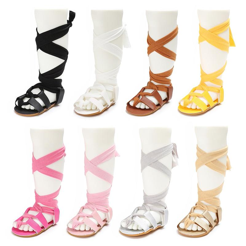 0e2b63d9bf9c New Gladiator Summer Baby Sandals Fashion Roman Girls Baby Shoes Toddler  Infant Girl Lace Up Sandals PU Leather Girls Shoes Online Shopping Kids  Shoes ...