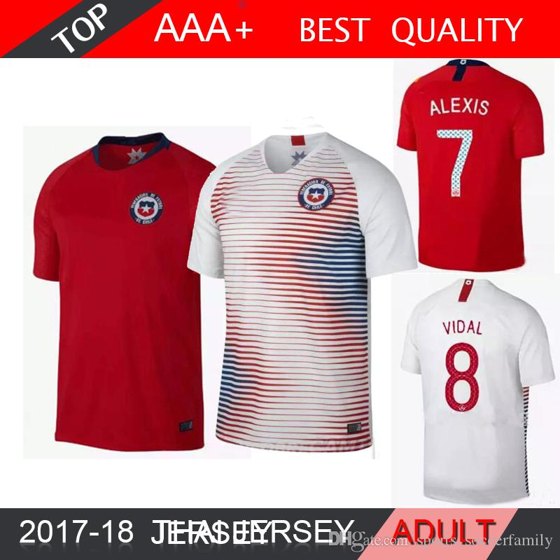 2018 Chile World Cup Home Away Red Jersey 18 19 Chile Soccer Jerseys  Sanchez ALEXIS VIDAL MEDEL Football Jersey National Team Shirt UK 2019 From  ... 68010d764