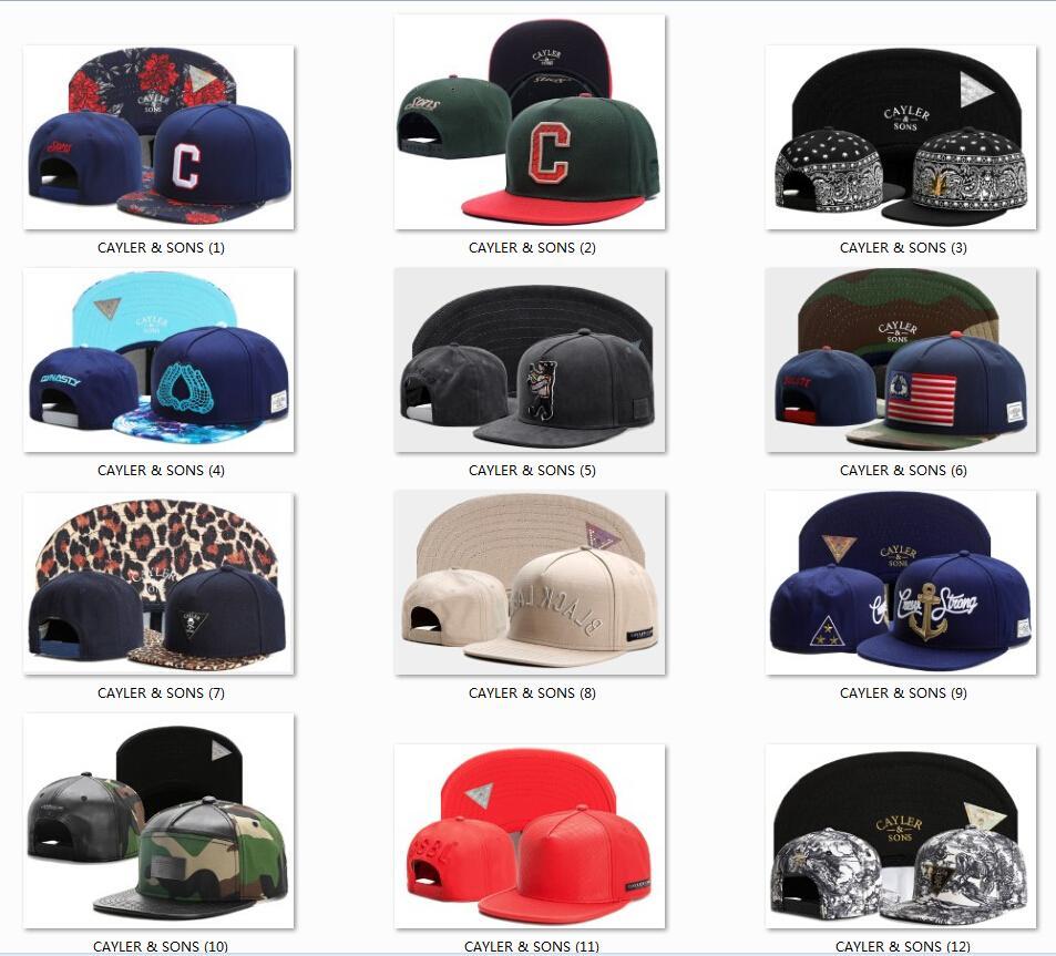 Erkek kadın Basketbol Beyzbol Amerikan Futbol Takımı Şapkalar Snapbacks Mens Gençlik Cayler Sons Spor Hip-Hop Düz Caps Şapka Snapback