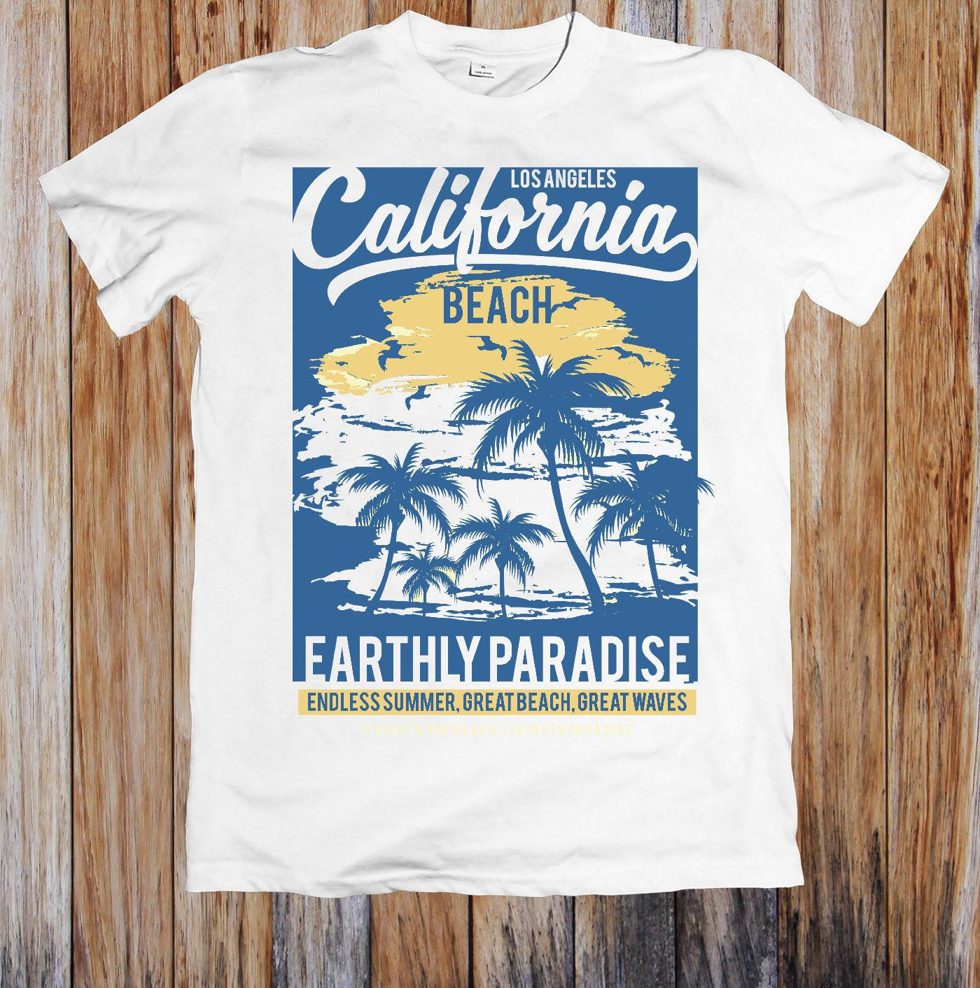 90d0a0a9ce6d45 CALIFORNIA BEACH EARTHLY PARADISE UNISEX T SHIRT Tees Design T Shirt Of The  Day From Crazytomorrow40