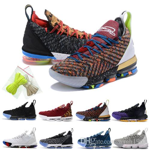 reputable site f4ddc f7cb2 2019 Hot LeBron James 16 Basketball Shoes Mens LeBron 16 Gold/Championship  MVP Finals training Sneakers designer Running Shoes Size 40-46