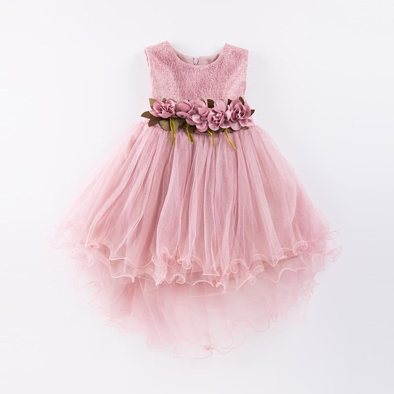 b434358aaeb 2019 Girl Dress Mermaid Tulle Wedding Party Dress 2017 Summer Princess  Dresses Clothes Ball Gown With Flowers Size 4 9t Pink Green From Roohua