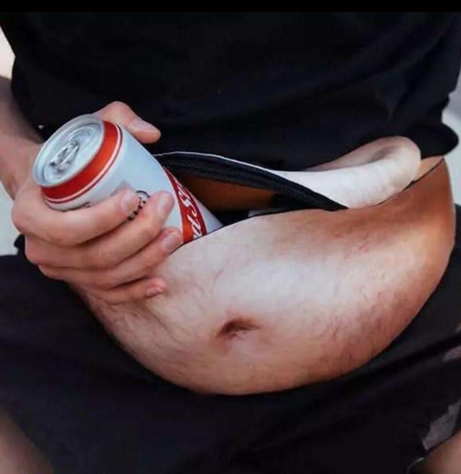 Papa Sac Papa Bod Sacs À La Taille De La Bière Du Ventre Fanny Pack Fun 3D imprimé Muscle Fat Belly Pattern Dadbag Purse