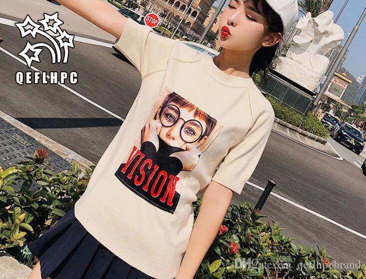 b94815e494f 2018 Spring Autumn. Sweater. Black And White Stripes. Women s Clothes.  Sweater. Short Sleeve. Women s T-Shirt. Women s Tops   Tees. Thin. Women s  T-Shirt.