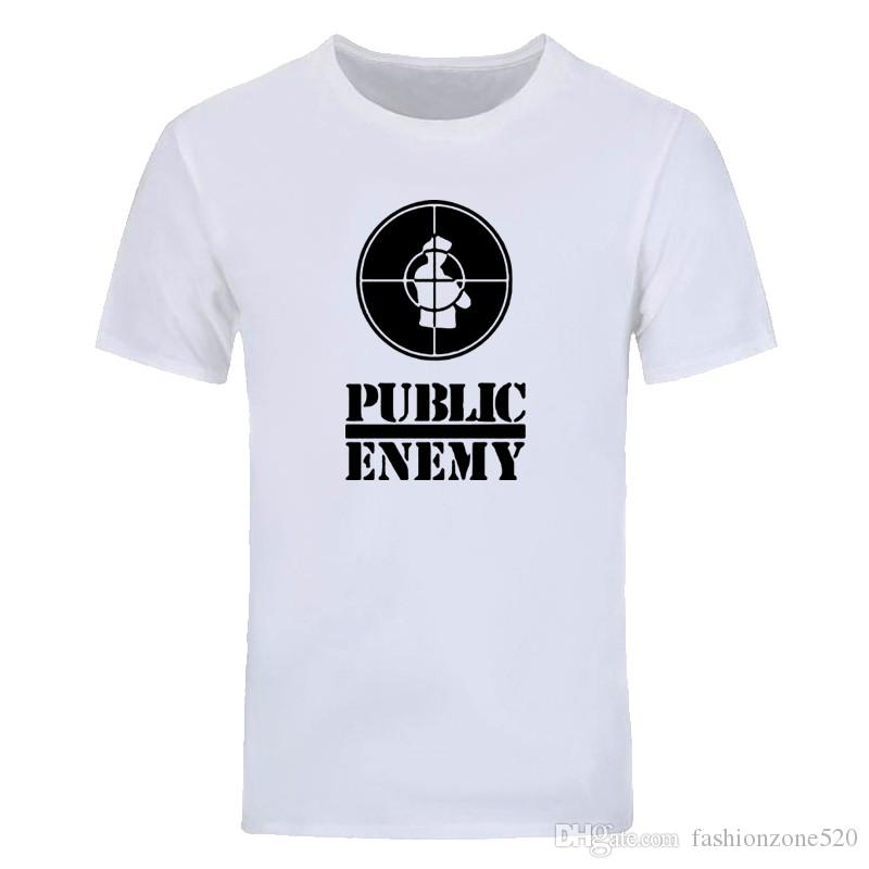 US Rap Team Public Enemy T Shirt Sublimation Printed Graphic Print T-shirt Summer Fashion Style T shirt Novel music tops tees DIY-0208D