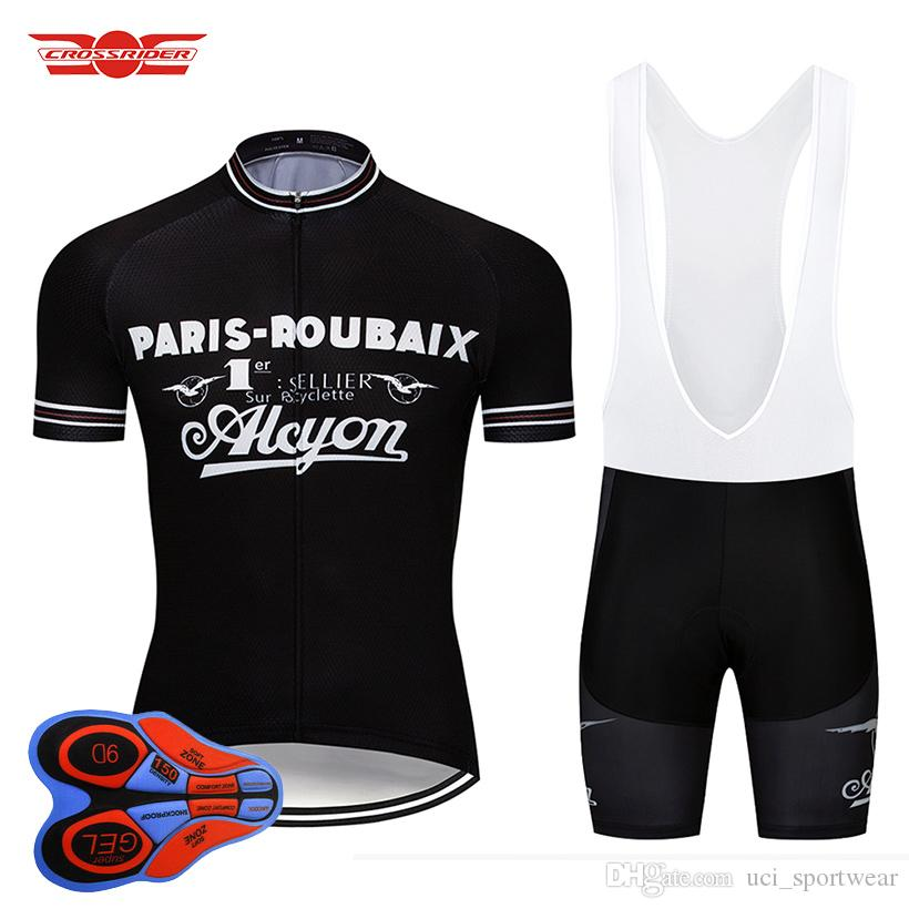 Crossrider 2018 Retro Cycling Jersey Set Bike Clothing Cycling Wear Bicycle  Clothes Ropa Ciclismo Mens Short Maillot Culotte Custom Bike Jerseys  Mountain ... 3496873d8