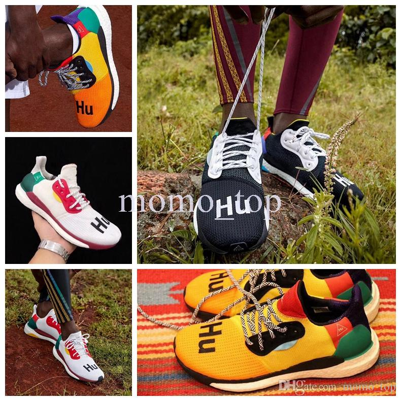 fe141eb33 2018 Release Pharrell Williams Solar Hu Glide Hu Trail Human Race Man  Running Shoes Authentic Quality Mens Sneakers Sports With Original Box Kids  Running ...