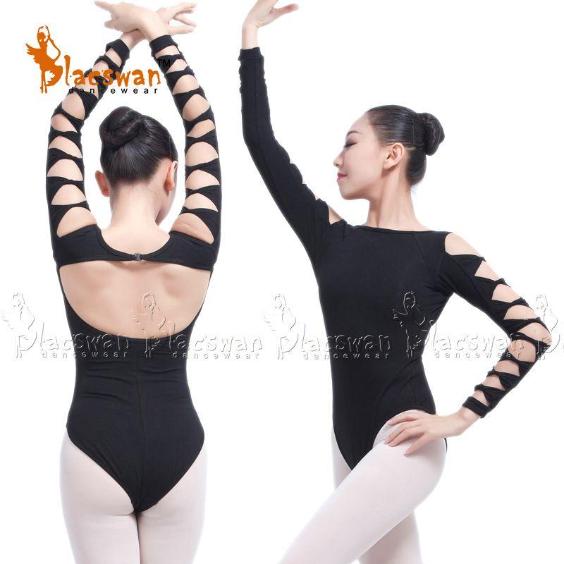 d2f38dc10161 2019 Quality Cotton Lycra Open Back Long Sleeve Dance Leotard For ...