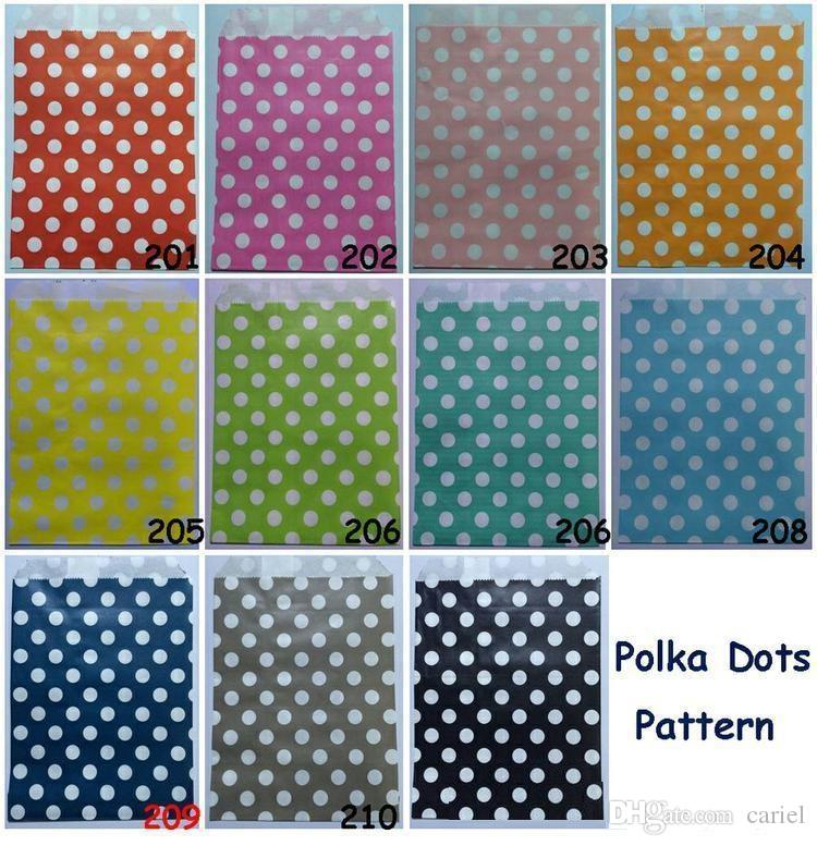 Polka Dot pattern paper bag candy cookies cupcake bag for kids birthday party supplies wedding favor gift wrapping bag wn212