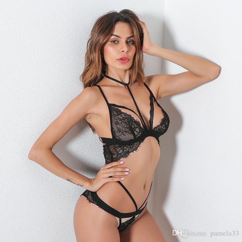 2018 Encaje Conjunto De Lencería Sexy Encaje Erótico Transparente Babydoll Lencería  Sexy De Encaje Tanga Ropa De Dormir Lencería Sexy Conjuntos De Ropa ... b70e6ab9e114