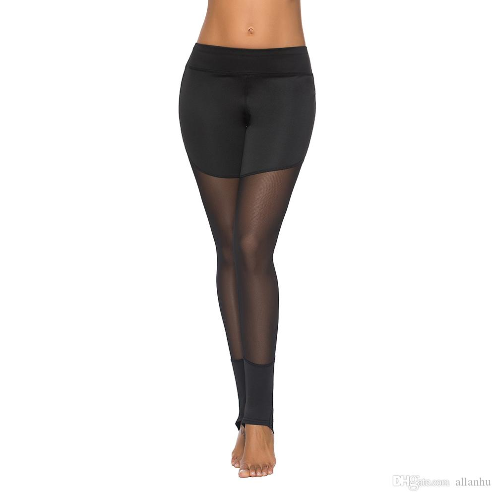 Acheter Noir Pas Cher Femmes Leggings Patchwork Slim Legging Pantalon Vêtements  De Sport Pour Fitness Femme Push Up Pantalons Femmes Active FS5782 De  8.85  ... 7020b322d32
