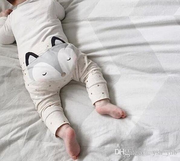 Kids pants Baby PP Harem Pants Cotton Cartoon Fox Tights Baby Pants Baby Girls Boys Legging Kids Leggings 2colour