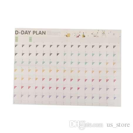 1pc Study Planning 100 Day Countdown Calendar Learning Schedule Periodic  Planner Table Gift Office School Supplies