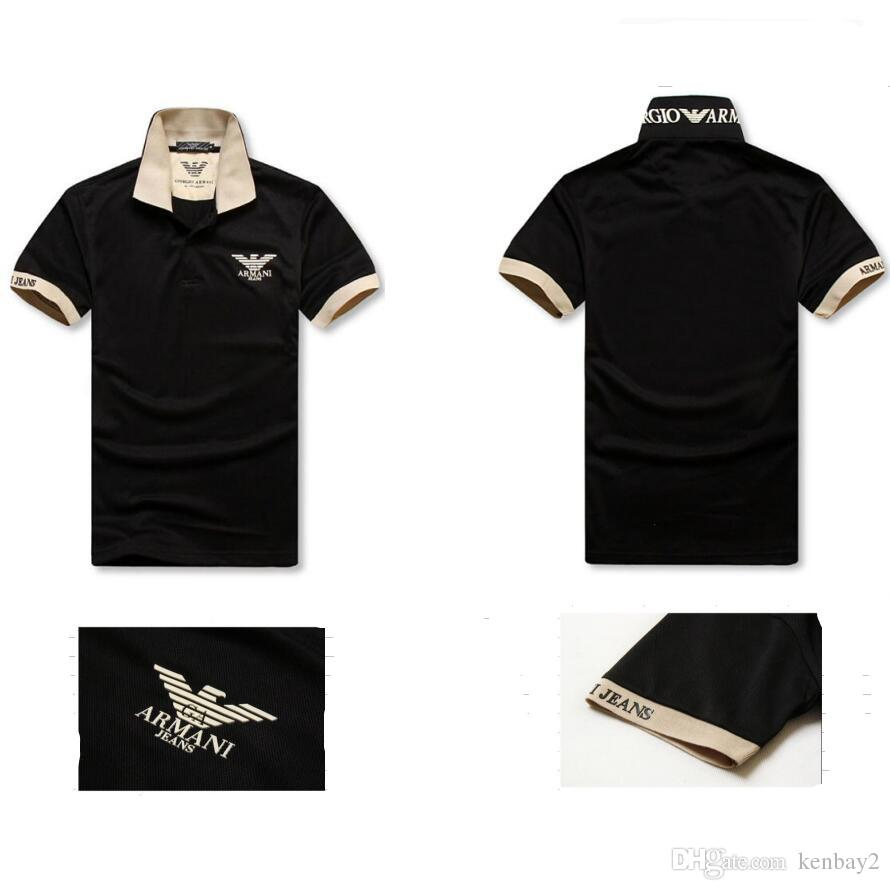 Wholesale Luxury Brand Men Aj Polo Shirts Casual Mens Polo Shirts