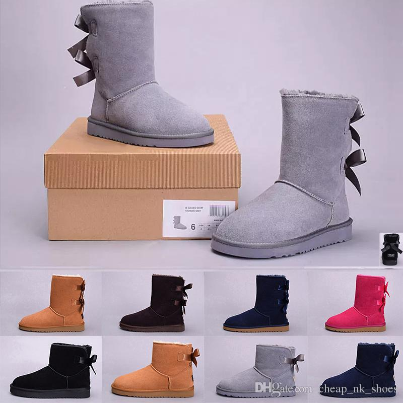 4fe08facd75 cheap sale WGG snow Boots winter Boots Australia designer tall boots real  leather Bailey Bowknot women s bailey bow Knee Boot shoes