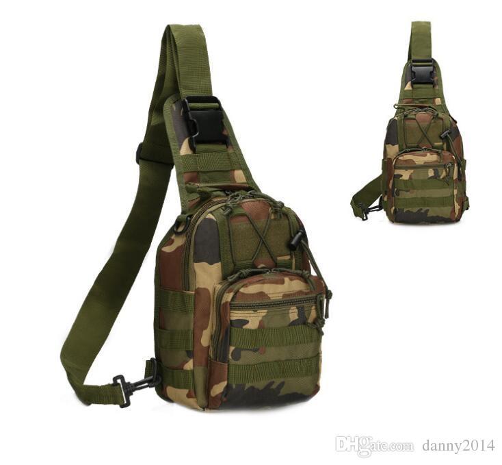 야외 위장 하나의 어깨 팩 스포츠 슬링 가슴 가방 하나 어깨 파우치 캠핑 하이킹 트레킹 로버 스포츠 팩 돈 지갑