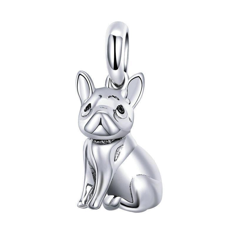 2018 European Love Pet Dog Beads 3d Animal Bulldog Pug 925 Sterling