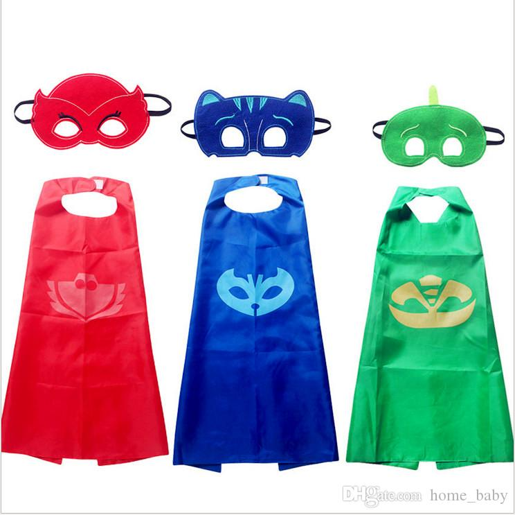 2018 Brand Kids Capes Children Christmas Halloween Cosplay Capes Prop Costumes Pashmina Double Side Superhero Cartoon Cape 65*75cm With Mask From Home_baby ...  sc 1 st  DHgate.com & 2018 Brand Kids Capes Children Christmas Halloween Cosplay Capes ...