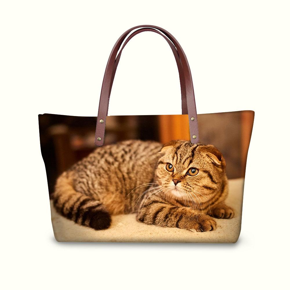 Women Handbags Scottish Fold CatWoman Bags Casual Tote Bag Crossbody Bags  For Ladies Travel Shoulder Bag Feminine Italian Leather Handbags Luxury  Handbags ... d36013338e9ad