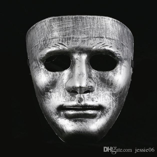 Vintage Hommes Full Face Costume Masque Costume En Vénitien En Plastique Costume Mascarade Masque Unisexe masqué boule masques Noël halloween scène effectuer des accessoires