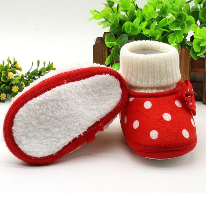30fa708c9 Compre Weixinbuy Warm Born Baby Girl Bowknot Fleece Invierno Botas De Nieve  Botines Blanco Princesa Zapatos A  34.3 Del Curd
