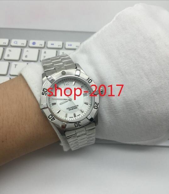 98968673543 Compre Super Clone Marca De Luxo Barato Novo Diver 300 M Aquaracer Branco  Dial Way2111.Ba0928 Automático Mens Watch Pulseira De Aço Inoxidável  Relógios De ...