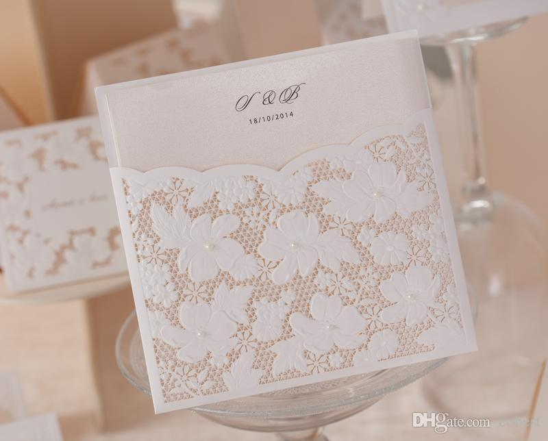 Personalized Wedding Invitations Cards Laser Cut Wedding Invitations