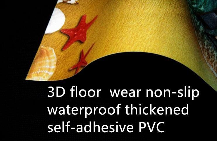 Custom 3D photo self-adhesive PVC floor mural wallpaper Goldfish River Pond Fish Group Bathroom 3D Waterproof Floor Painting