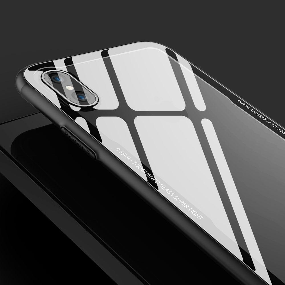 New HDTransparent9H 3D TemperedGlassBackCoverCaseFlexibilitySoftTPU ShockAbsorptionBumper AseismicAirbag foriPhoneX Goophone X