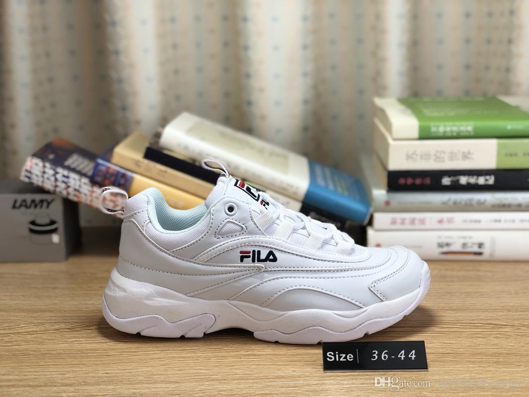 75416d28efdc 2019 2018 New Arrival White Black Grey Yellow Fila II 2 S Women Men FILE  Special Section Sports Sneaker Running Shoes Increased Shoes 36 44 From ...