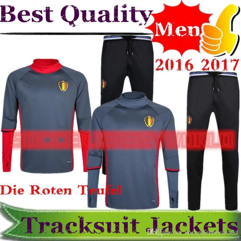 2017 Belgium Jacket Tracksuit Kits Hazard Kompany Lukaku Mertens ... 1515f285d