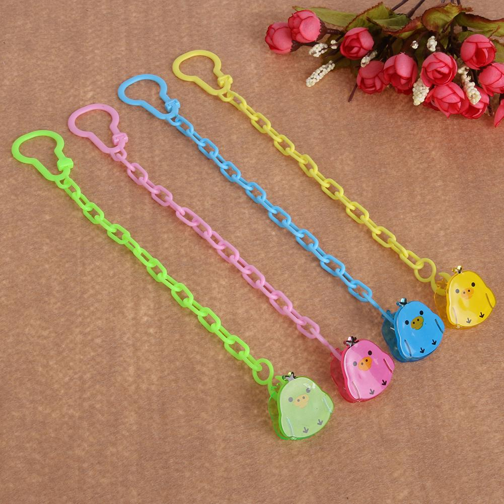 Baby Pacifier Clips Chain Cartoon Funny Dummy Nipple Chain Teether Pacifier Holder Clip For Baby Safe Soother Chain Random Color