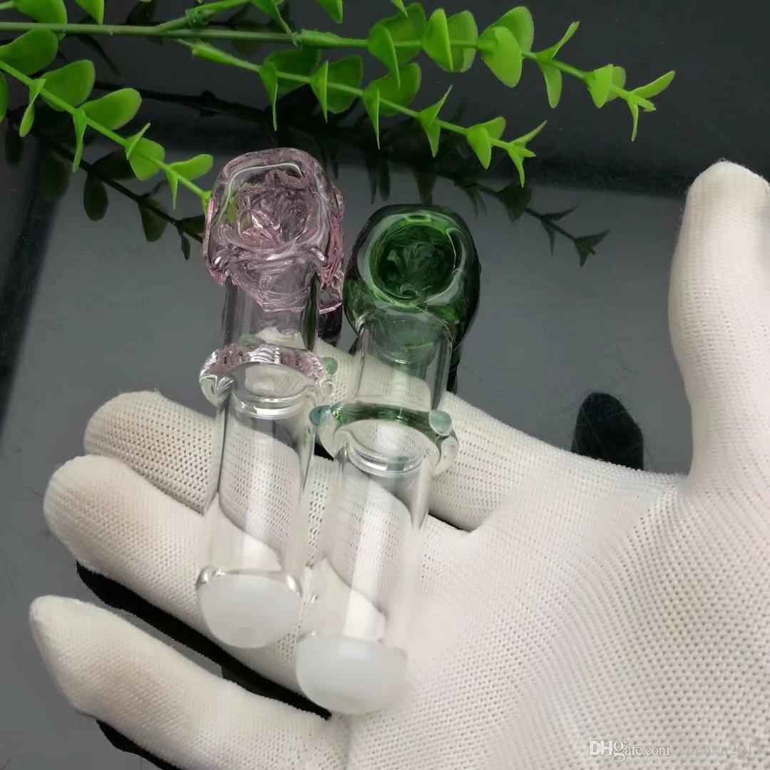 Les ventes à chaud en 2019 pipe en verre couleur monoroue crâne os bangs en verre gros brûleur en verre d'huile pipe à eau huile fumante Rigs, huile.
