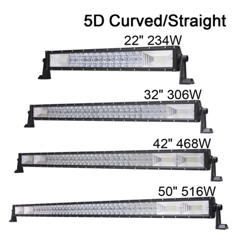 50 5d Lens Offroad Led Light Bar Driving Light Car 4x4 Suv 4wd Truck Utv Tractor 12v 24v 516w Combo Led Light Bar Work Light Automobiles & Motorcycles Light Bar/work Light