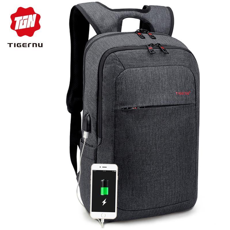 7b21a4600e Tigernu Men Fashion 15.6 14 Inch USB Recharging Backpacks Anti Theft Male Mochila  Rucksack Laptop Backpack Schoolbag For Teens Y1890302 Rucksacks Bookbags ...