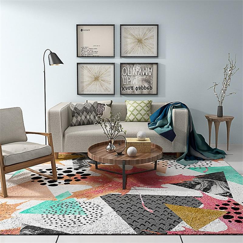 Modern Fashion Individual Colorful Paint Drawing Parlor Living Room