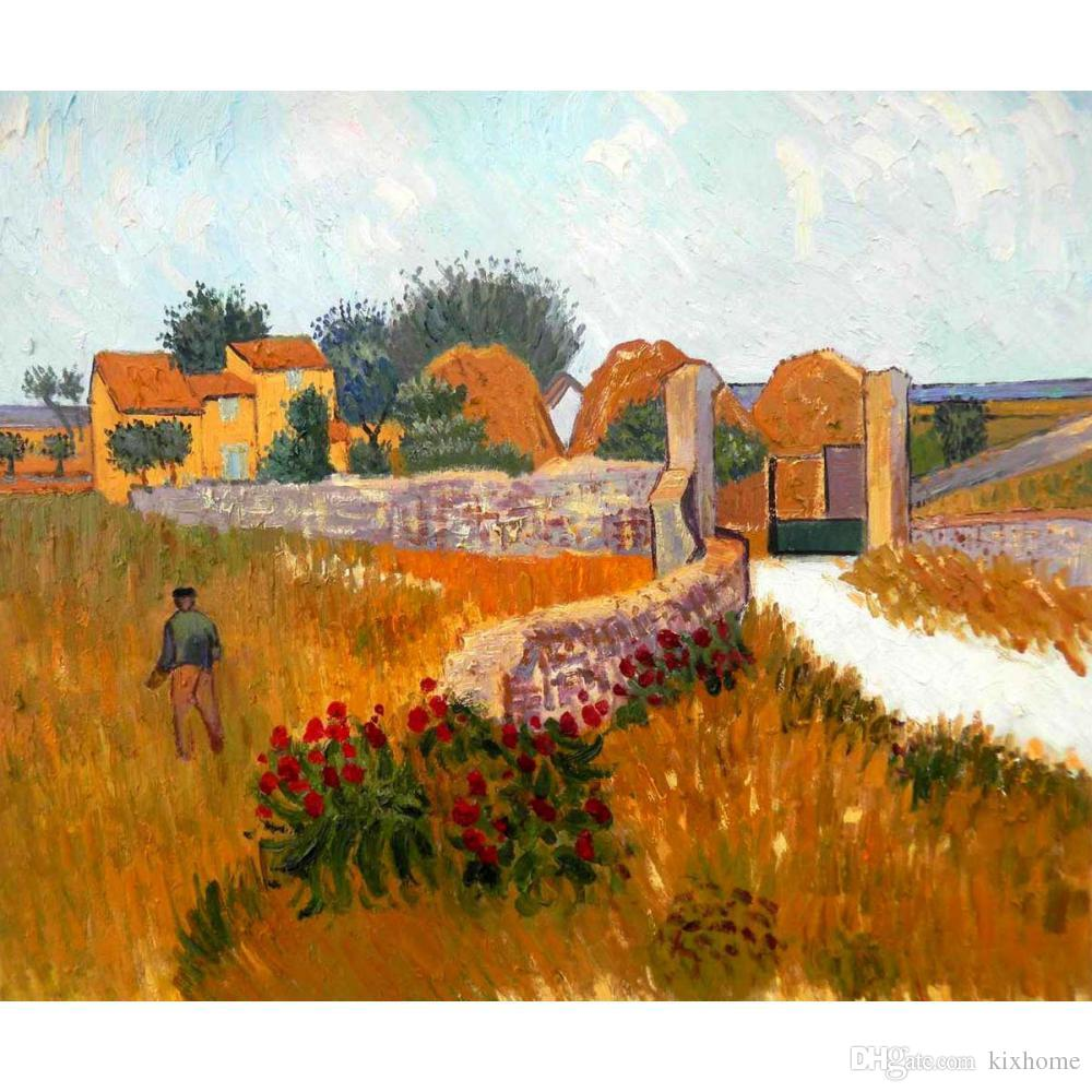 2019 Vincent Van Gogh Paintings Of Farm House In Provence Handmade Canvas Art For