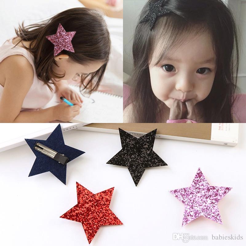 Новый конструктор Шпилька для Little Girl Cute Shine клип оголовье Звезда волос Дети Barrettes Головной убор Горячие продажи принцессы Аксессуары для волос