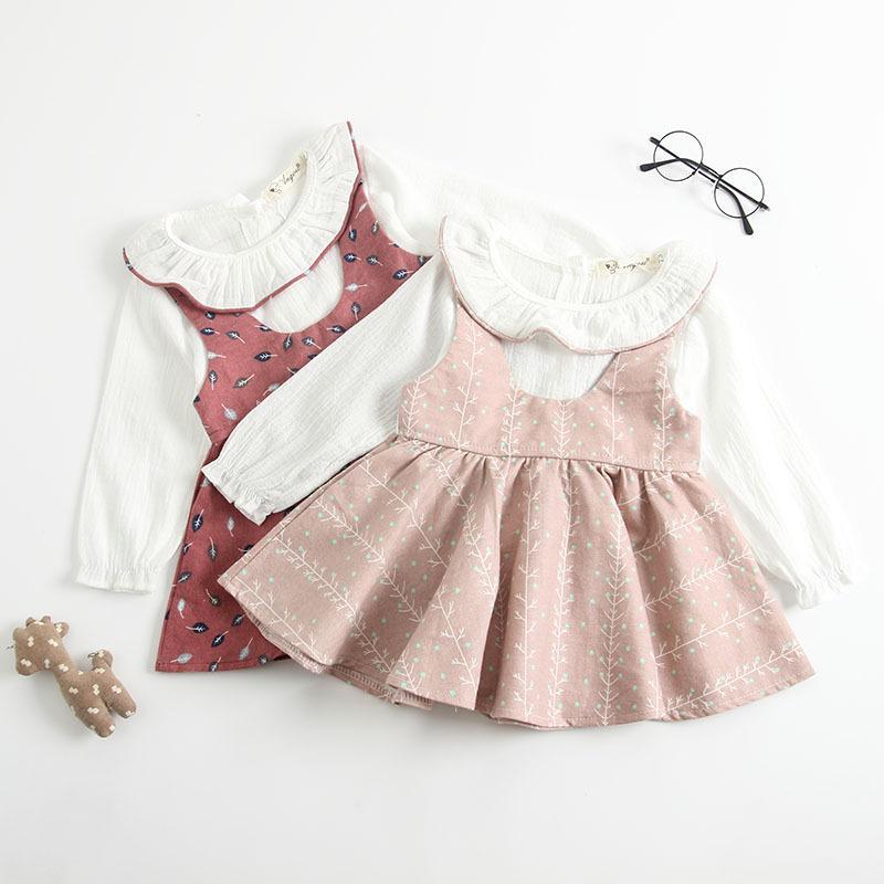 241a35442 Baby Kids Clothing Princess Dress Spring Fall Pet Pan Collar Long ...