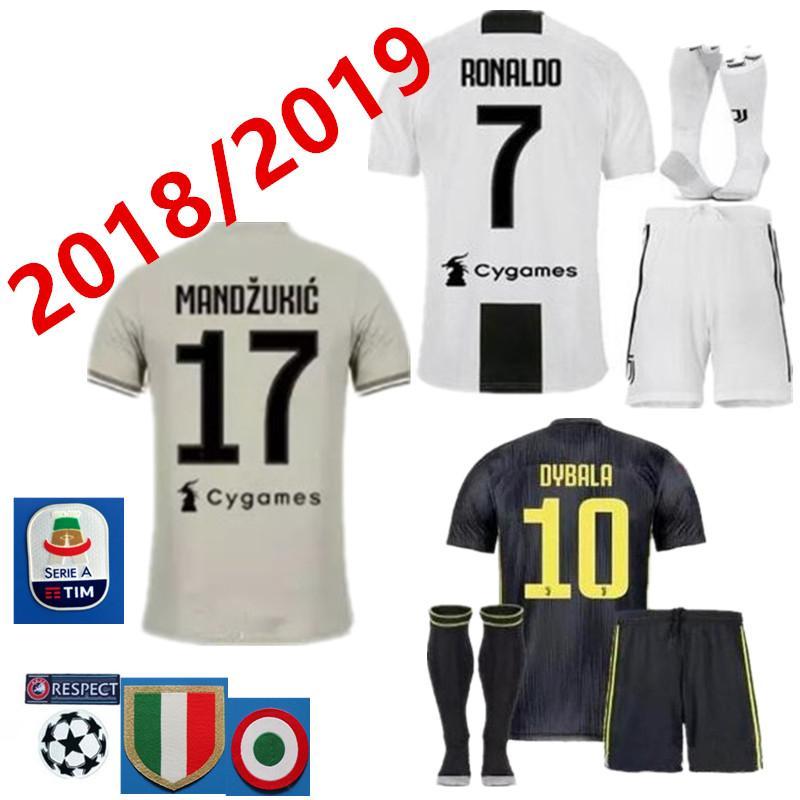 622d2278f 2019 Kit+Socks Juventus HIGUAIN RONALDO 7 Football Shirt 2018 2019  MANDZUKICUADRADO DYBALA MARCHISIO BONUCCI MANDZUKIC CHIELLINI MARCHISIO  Footb From ...