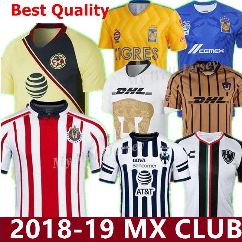 2018 19 Top Thailand LIGA MX Club America TIGRES UANL Soccer Jersey ... e7cea5629