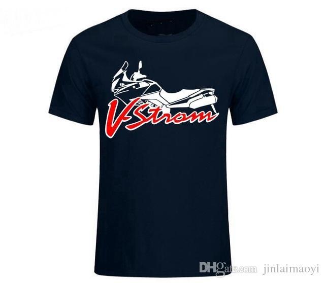 a286f45ba0 Acquista Maglietta Degli Uomini Di Modo Suzuki V Strom DL 650 T Shirt Logo  Squadra Motorsport Maglietta Degli Uomini Di Cotone T Shirt Manica Corta Di  Alta ...