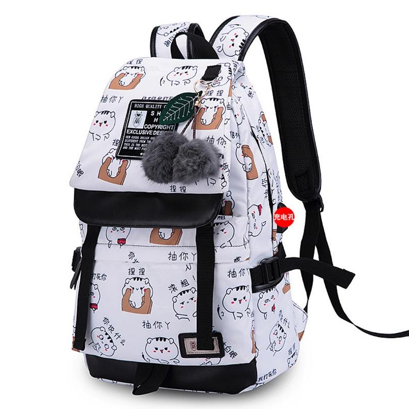 515f9dd53c Preppy Style Polyester Adolescent Girls Backpack Student Casual ...