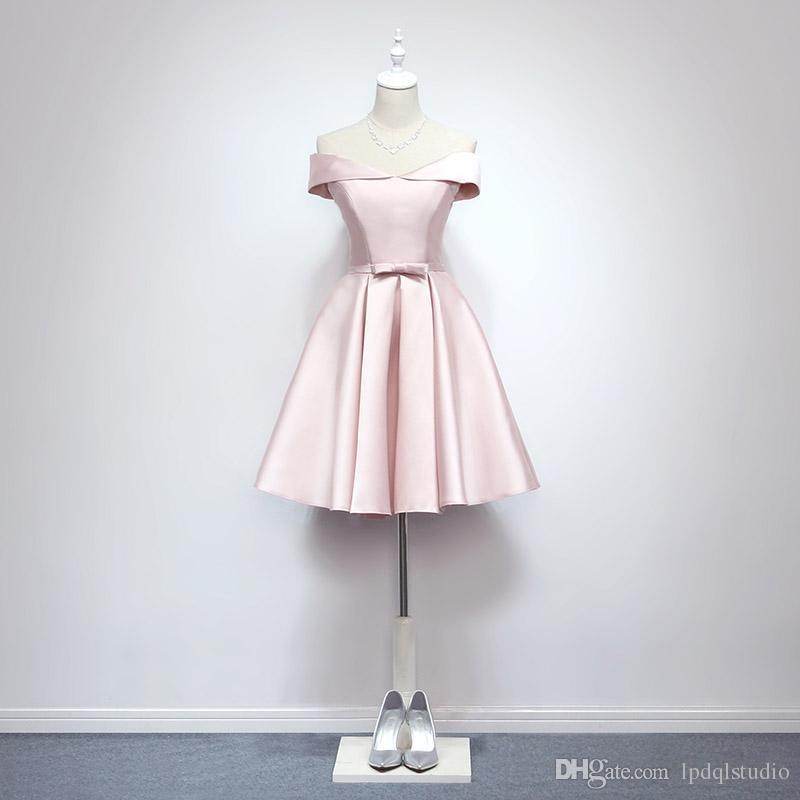 Pale pink dress knee length