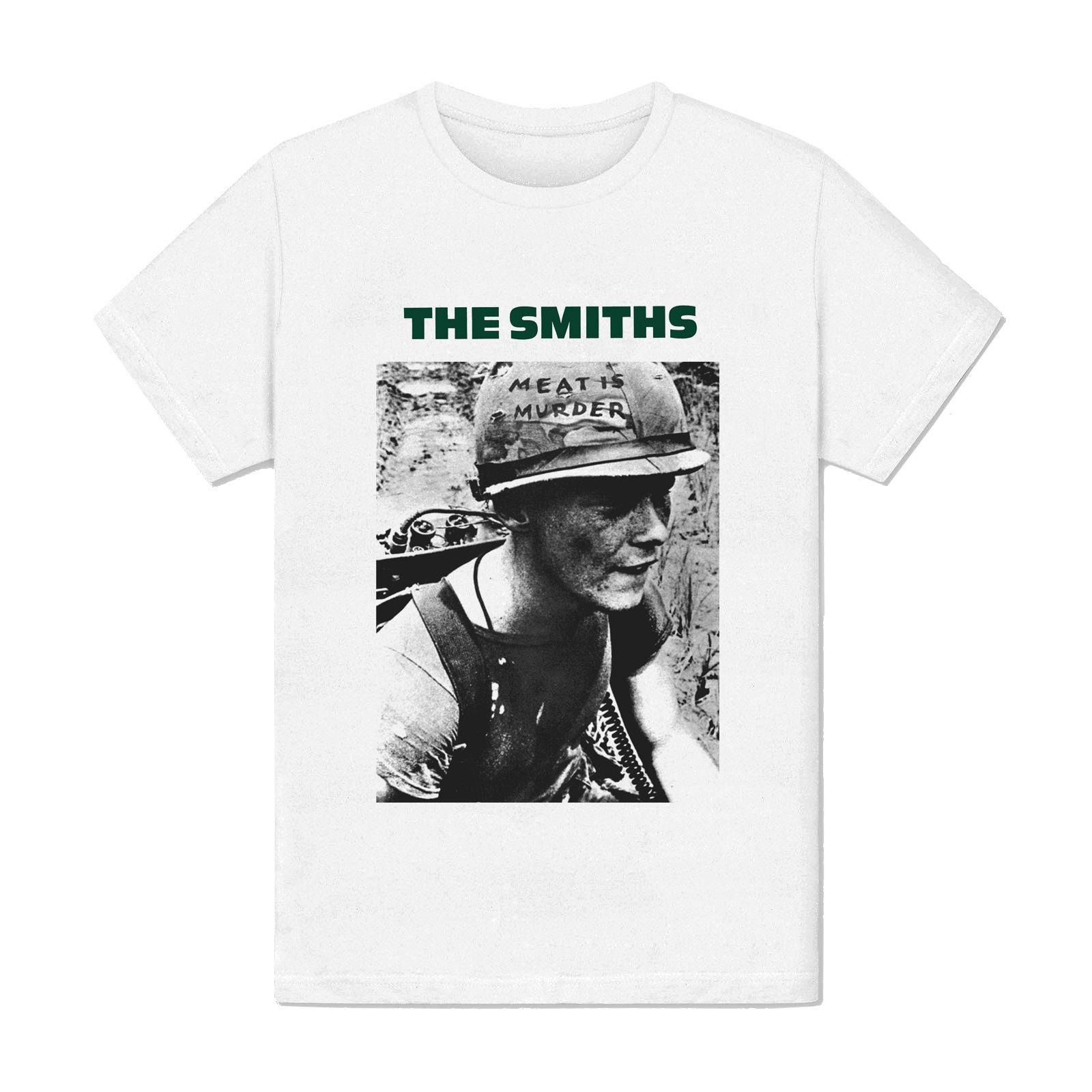 051197c5efae19 T-shirt Homme Blanc - The Smiths Meat is Murder - Soldat Album Musique  Londres Online with  12.99 Piece on Beidhgate02a s Store