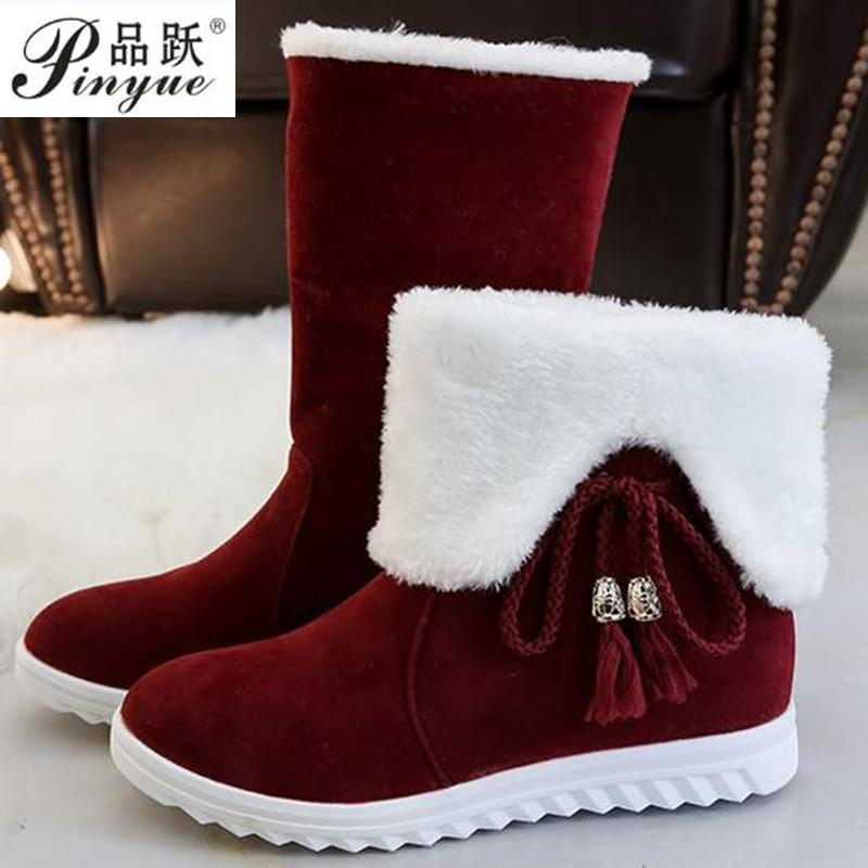 e5dbf67b08b9 Fashion Bow Tie Women Winter Snow Boots Warm Fur Suede Lace Up Martin Boots  2018 Autumn Winter Warm Female Ankle Winter Boots For Women Motorcycle Boots  ...