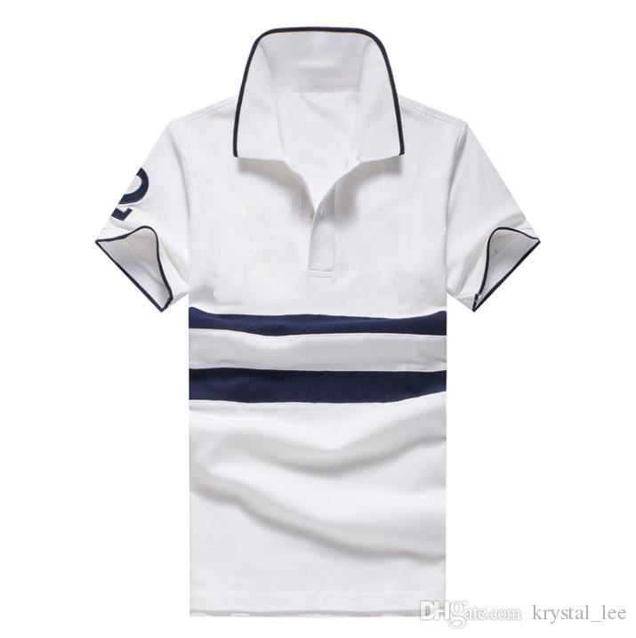 Patch 2 horse New brand polo shirt men fashion Business camisa masculina hombre manga corta marca blouse blusa chemise homme WNS9893