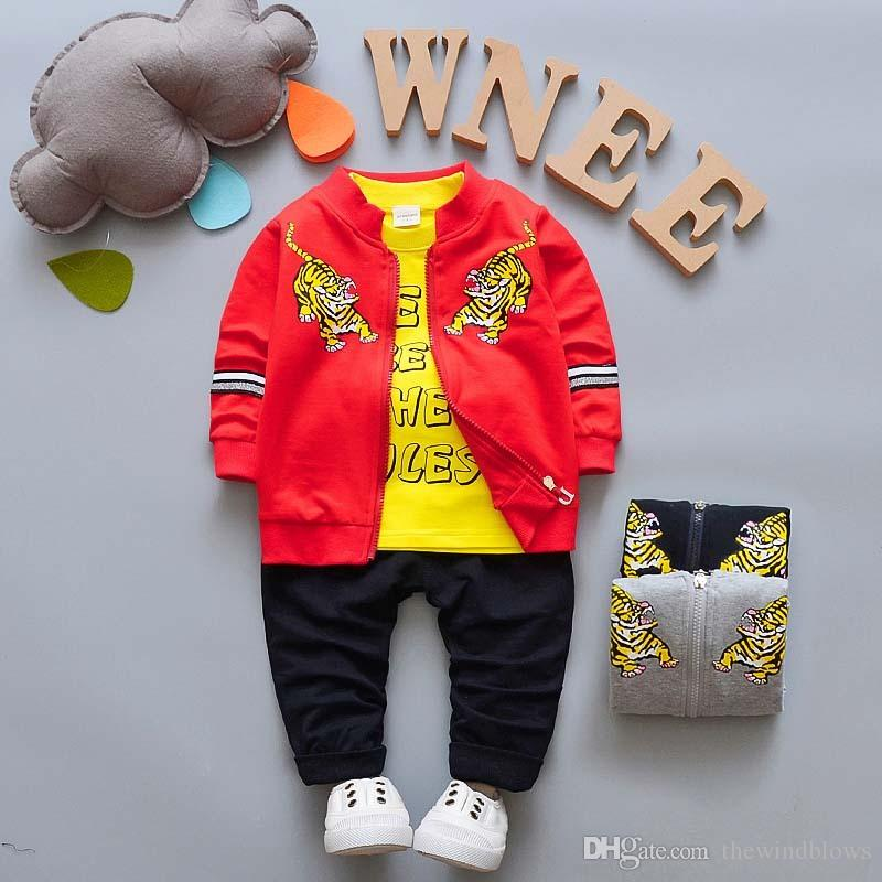 3972916973200 New Spring Baby Boys Clothing Sets Cartoon Coat + T-shirt+pants Clothes Suit  for Kids Boys Trakcsuit Set Outfits Online with  21.72 Piece on  Thewindblows s ...