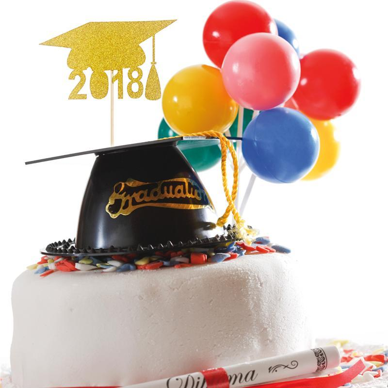 Set of Graduation Cap 2018 Cupcake Toppers Cake Toppers Toothpicks Decoration Graduation Party Favors