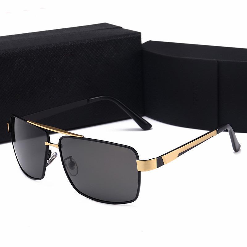 106daa437b Compre Nuevos Hombres De Lujo Gafas De Sol Attitude Gafas De Sol Gold Frame  Square Metal Frame Estilo Vintage Diseño Exterior Classical Model With  Original ...